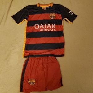 NWOT-Youth Barcelona Lionel Messi Jersey Set-XL